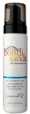 Bondi Sands - SELF TANNING FOAM 200ML LIGHT / MEDIUM  - FREE SAME DAY POST!