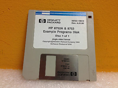 HP / Agilent 08753-10014 Rev.A.01.00  8752 & 8753 Example Programs Disk 1/1