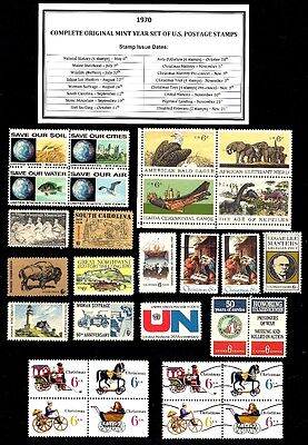 1970 Complete Year Set Of Mint Nh (Mnh) Vintage U.s. Postage Stamps