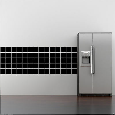 """30 WALL ART TILE STICKERS FAKE BATHROOM KITCHEN TILES 4""""x4"""" Decal Transfer Cover"""