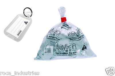 Kevron Key Ring Tags - White ID5CLR - Bag of 50 Tags - FREE POSTAGE !!