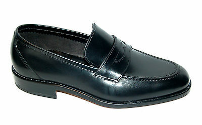 Man - 44½ Eu - Penny Loafer - Black Calf - No Lining - Leather Sole+Blake Cst