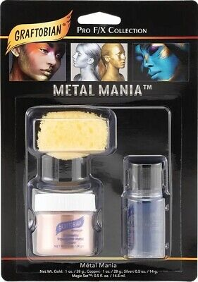 Graftobian Metal Mania Face Body Painting Powdered Metal Stage Halloween Copper