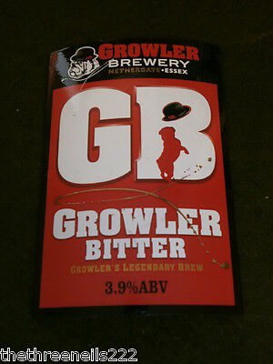 Beer Pump Clip - Gb Growler Bitter