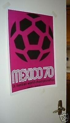 1970 Mexico World Cup Official Poster REPRO