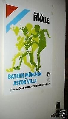 Aston Villa Bayern European Cup 1982 Final Door Poster