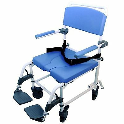Healthline Medical Aluminum Shower Commode Chair Wide Seat (185) 20""