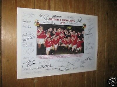 British and Irish Lions 1997 Rugby POSTER Copy Autos