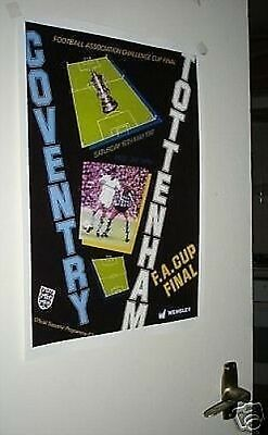 Coventry Spurs FA Cup 1987 Final Poster of Programme