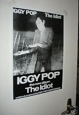 Iggy Pop The Idiot Repro Poster