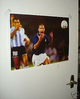 Toto Schillaci Italy World Cup Legend 6 Goals Poster