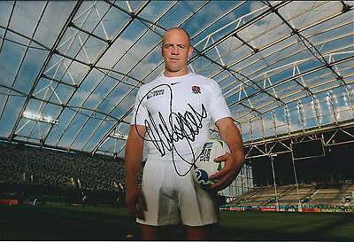 Mike TINDALL Signed Autograph 12x8 Photo AFTAL COA England RUGBY World Cup 2011