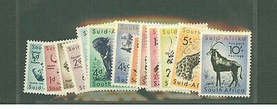 South Africa 1954 sc# 200-213 Animal, Animals and Wild stamp set MH Suid Afrika