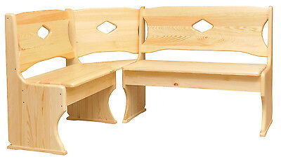 CORNER BENCH / SOLID PINE / VARIOUS SIZES & COLOURS / HAND MADE / NEW / Dining