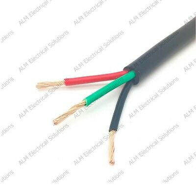 3 Core Cable - 3 x 1mm Round - All Lengths - Automotive & Marine 12V / 24V