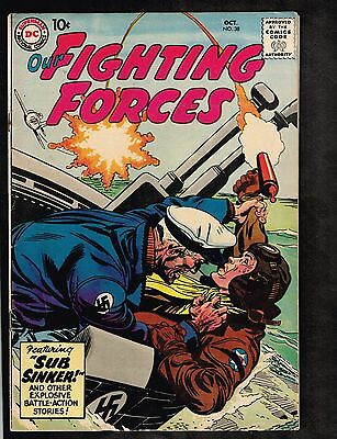 Our Fighting Forces #38 ~ Sub Sinker ~ 1958 (6.0) WH