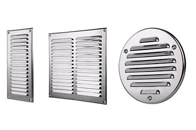 Stainless Steel Air Vent Grille Metal Ventilation Cover Wall Grilles Duct Louvre