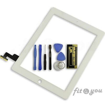 Replacement White Touch Screen Digitizer Lcd Front Glass Display UK For iPad 2