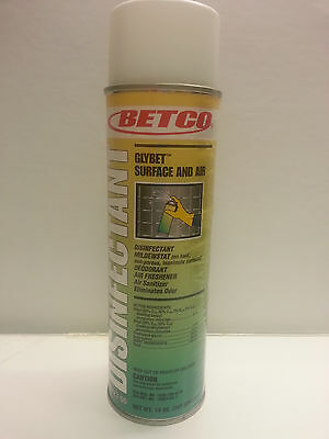 Betco GLYBET™ Surface Disinfectant Air Sanitizer,12 - 14oz Aerosol Cans 08923