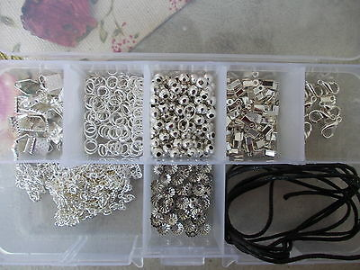 Necklace Jewellery Making Starter Kit,findings Set & Essential Storage Box,