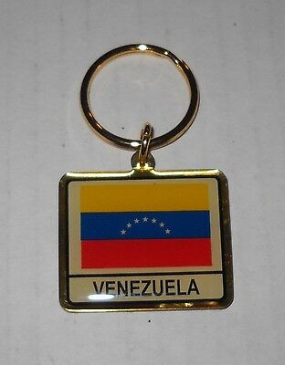 Wholesale Lot Of 10 Venezuela Flag Metal Keychain, BRAND NEW