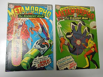 METAMORPHO The Element Man #7 FN- #8 VG+ Lot of 2
