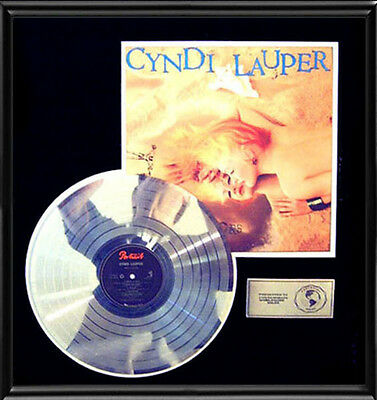 Cyndi Lauper True Colors Rare Lp Gold Record Platinum  Disc Album Frame