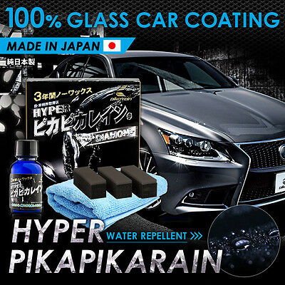 HYPER Pika Pika Rain 100% Glass Coating for Easy Car Wash, Great Water-Repellent
