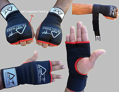Austodex Inner Quick Hand Wraps Gloves Boxing Fist Gel Padded Bandages MMA Thai