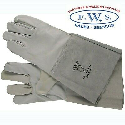 "Tig Welders Gloves Grey Leopard Gauntlets Welding 6"" Cuff"