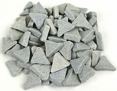 "1 lb CERAMIC TUMBLING MEDIA ABRASIVE POLISH METAL DEBURRING TUMBLER 1"" ANGLE CUT"