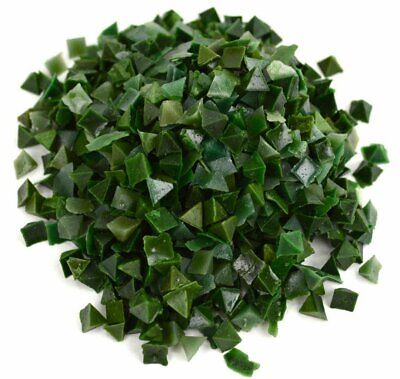 "1 lb RESIN TUMBLING MEDIA RUST CUTTING ABRASIVE TUMBLER GREEN 1/4"" PYRAMID SOFT"
