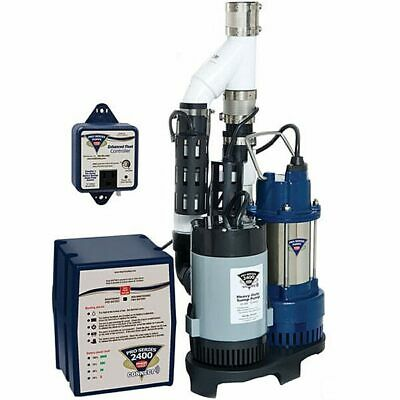 Pro Series PS-C33 - 1/3 HP Combination Primary & Backup Sump Pump System