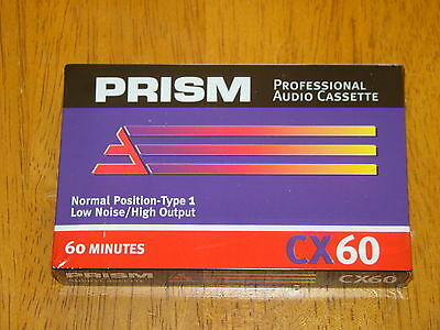 LOT OF 20 TAPES - NEW FACTORY SEALED PRISM (60M) AUDIO CASSETTE BLANK TAPES