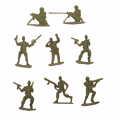 100 Mini Toy Green Army Plastic Soldier Combat Platoon War Figures Party Bag