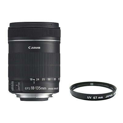 Canon EF-S 18-135mm 18-135 f/3.5-5.6 IS Lens Brand New USA + UV FILTER INCLUDED