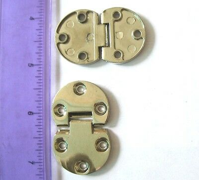 2 pcs/set Mini Zinc Alloy cabinet hinges for small box lid & cabinet / case door
