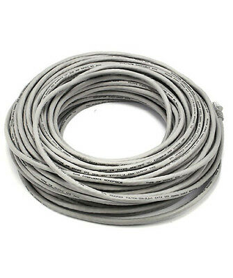 100FT CAT6 UTP Network Ethernet Internet Cable Wire Gray 550MHz ...