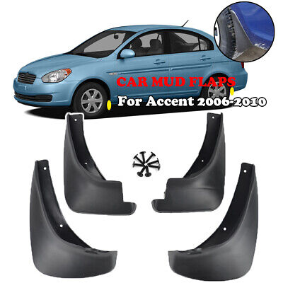 Set Fit For Hyundai Accent Gls Saloon 2006~2010 Mud Flaps Splash Guard Mudguards