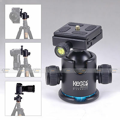 12KG Professional Panoramic Gimbal Tripod Ball Head 360° Rotated For DSLR Camera