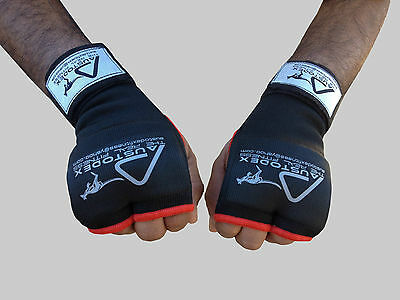 Austodex Boxing Fist Gel Padded Bandages MMA Thai Inner Quick Hand Wraps Gloves