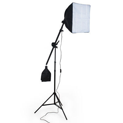Illuminazione set studio foto lampada flash kit softbox stativo + borsa