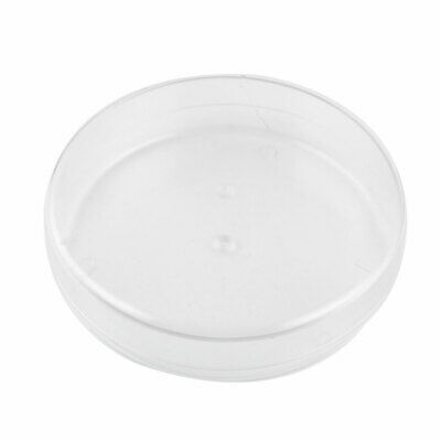 90mm x 22mm Flat Bottom Round Sample Cell Culture Petri Dish w Cover