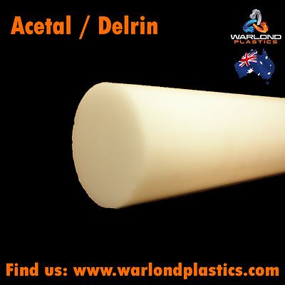 Acetal Delrin® / White Rod / POM Copolymer – Plastic 50mm Diameter x 295mm Long