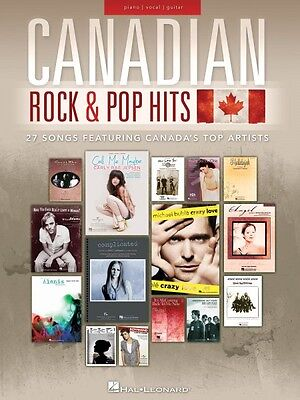 Canadian Rock /& Pop Hits Sheet Music 27 Songs Featuring Canada/'s Top A 000119158