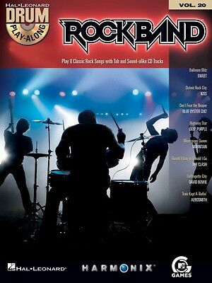 Rock Band Drum Play-Along Book and CD NEW 000700708
