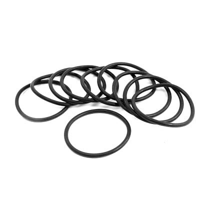10PCS 42MM OD 2.4mm Thickness Black Rubber O Ring Seal Washer ...