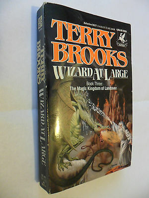 WIZARD AT LARGE (c) 1988 by TERRY BROOKS ... 1st CANADIAN DEL REY PAPER EDITION