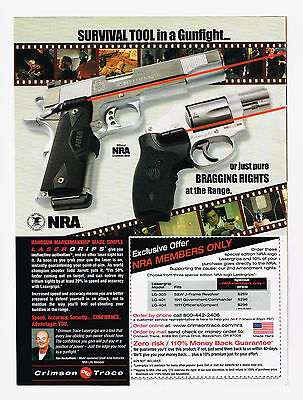 2010 Advertisement Nra Crimson Trace Laser Grips Sights For Pistols