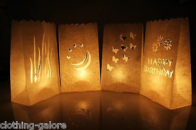 10 / 20 Paper Lantern Bag Tea Light Candle Decoration Wedding Party Engagement